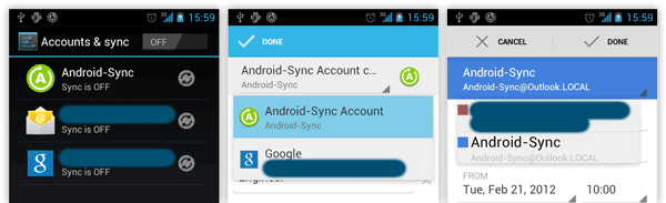Android Local Account